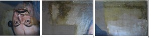 Tisztító ablakok, jól látható a viaszos átkenés
